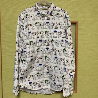 Design Tshirts Store graniph - graniph スヌーピー 長袖カッターシャツ S