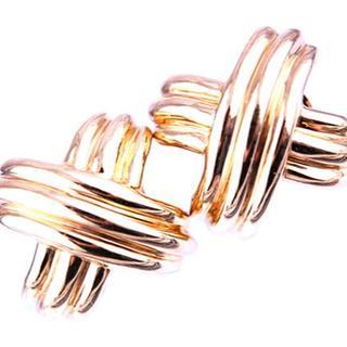 ティファニー(Tiffany & Co.)のティファニー シグネチャー  ラージクロス カフス カフスリンクス K18 YG(カフリンクス)