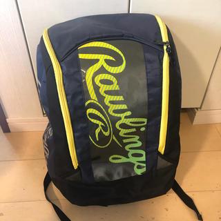 Rawlings - ローリングスRawlings野球リュックバット入れ、仕切り付き紺ネイビー