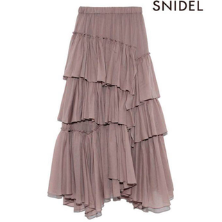 snidel - シアースカート モカ