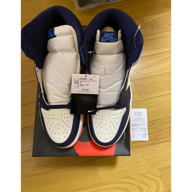 NIKE(ナイキ)のNIKE AIR JORDAN 1 RETRO HIGH OG OBSIDIAN メンズの靴/シューズ(スニーカー)の商品写真