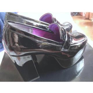 ヨースケ(YOSUKE)のYOSUKE(ヨースケ) 厚底プラットフォームパンプス 25cm(ローファー/革靴)