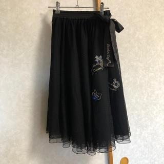 メゾピアノジュニア(mezzo piano junior)のメゾピアノ  ジュニア★ロングスカート★透け感Lサイズ(スカート)