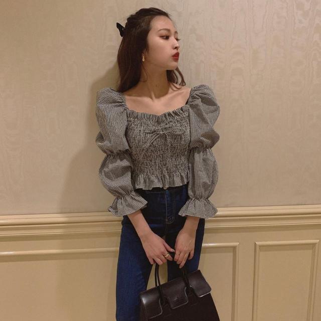 snidel(スナイデル)の♡ shirring ribbon blouse ♡ レディースのトップス(シャツ/ブラウス(長袖/七分))の商品写真