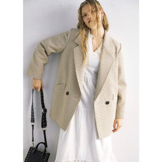 moussy - moussy  Classic overジャケット 柄WHT