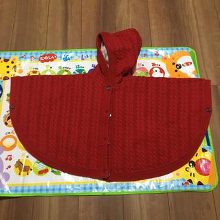 バーバリー(BURBERRY)のバーバリーの赤いケーブル編みケープ(その他)