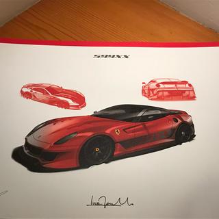 フェラーリ(Ferrari)のFerrari /599XX/リトグラフ/非売品(その他)