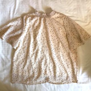 レトロガール(RETRO GIRL)のトップス 立ち襟 フリルネック エムズエキサイト ドット 水玉(Tシャツ(半袖/袖なし))