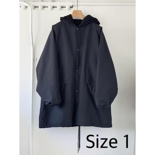 コモリ(COMOLI)のCOMOLI 20AW コットンシルクフーデッドコート Size 1(モッズコート)