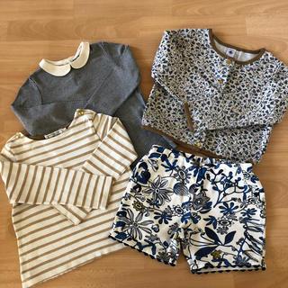 プチバトー(PETIT BATEAU)のプチバトー  女の子4点セット 6ans(Tシャツ/カットソー)