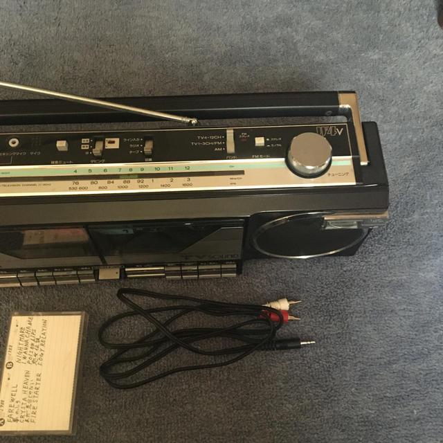日立(ヒタチ)の日立 ダブルラジカセ スマホ/家電/カメラのオーディオ機器(ラジオ)の商品写真