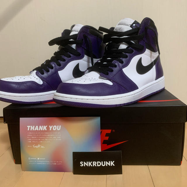 NIKE(ナイキ)のair jordan 1 court purple 26.5 メンズの靴/シューズ(スニーカー)の商品写真