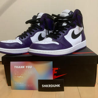 NIKE - air jordan 1 court purple 26.5