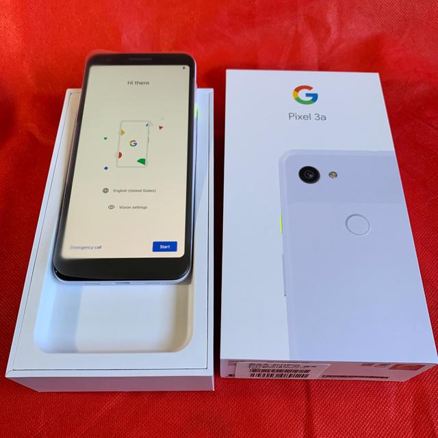 ANDROID(アンドロイド)のGoogle Pixel 3a 新品•未使用 SIMロック解除済み① スマホ/家電/カメラのスマートフォン/携帯電話(スマートフォン本体)の商品写真