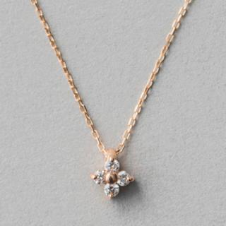 エテ(ete)の【ete】K18  ピンクゴールド ブライトダイヤモンド ネックレス(ネックレス)
