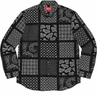 シュプリーム(Supreme)のsupreme paisley grid shirt black Large(シャツ)