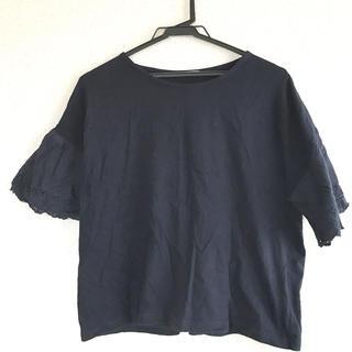 CINEMA CLUB - 袖レース Tシャツ