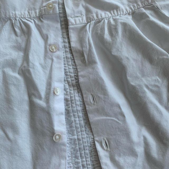 Bonpoint(ボンポワン)のボンポワンの白ブラウス キッズ/ベビー/マタニティのベビー服(~85cm)(シャツ/カットソー)の商品写真