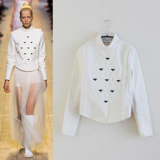クリスチャンディオール(Christian Dior)のChristian Dior/クリスチャンディオール/BEE刺繍ジャケット(ノーカラージャケット)