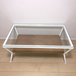 フランフラン(Francfranc)の【yu-yooo様用】フランフラン ガラステーブル(ローテーブル)