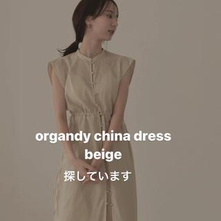 louren  organdy china dress(ロングワンピース/マキシワンピース)
