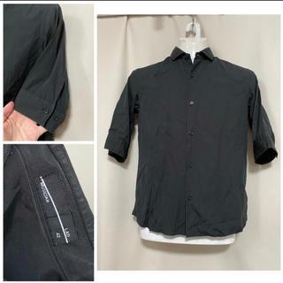 ラッドミュージシャン(LAD MUSICIAN)のLAD MUSICIAN ラッドミュージシャン 7分袖ブラックシャツ 42 XS(シャツ)