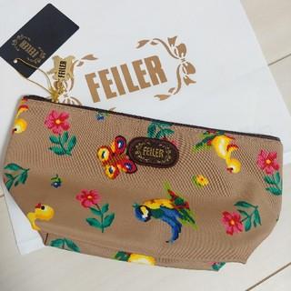FEILER - フェイラー ハイジ ポーチ ララルカ ベージュ