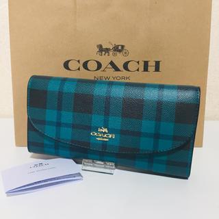 コーチ(COACH)の新品 COACHコーチ フラップホック 長財布 チェック(財布)