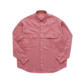 コモリ(COMOLI)のポータークラシック  ROLL UP SHIJIRA STRIPE RED(シャツ)