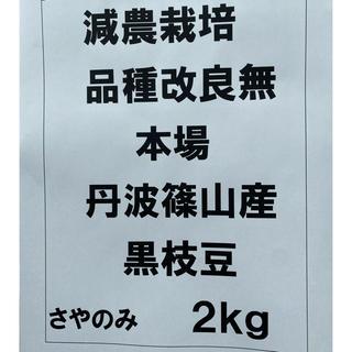 水と土が格別=地元民に人気品 本場 丹波篠山産 黒枝豆 さやのみ 2kg