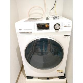 テスト動作のみ!ほぼ新品ドラム式洗濯機 AQUA AQW-FV800E(W)