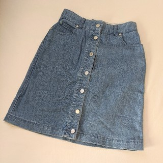 heather - Heather ヘザー 台形 デニムスカート 膝丈