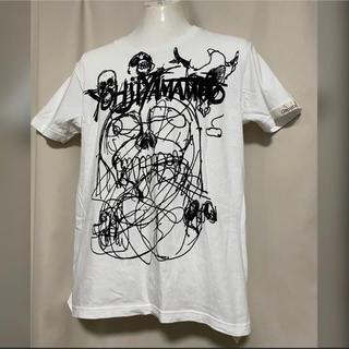 Yohji Yamamoto - groundY yohji yamamoto 落書きスカル Tシャツ 3 白 L