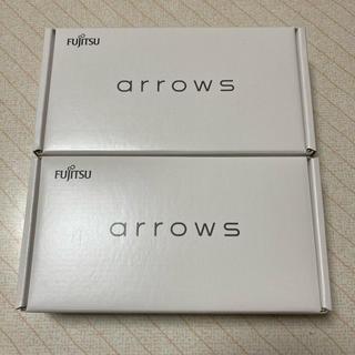 フジツウ(富士通)のarrows rx ホワイト ブラック White Black 楽天(スマートフォン本体)