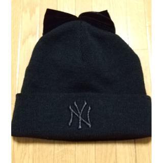 ニューエラー(NEW ERA)のMLBニューヨークヤンキースリボン付きニット帽(ニット帽/ビーニー)
