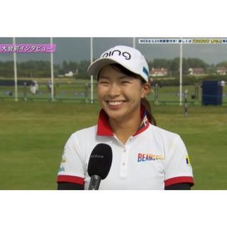 ビームス(BEAMS)の渋野日向子着用モデルゴルフウェアBEAMSGOLF ORANGE LABEL・M(ポロシャツ)