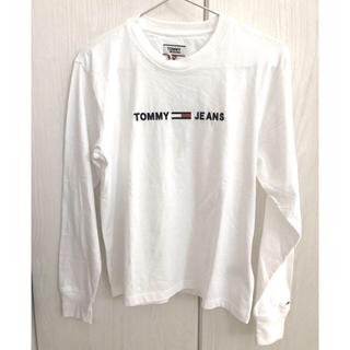 トミーヒルフィガー(TOMMY HILFIGER)のTOMMY JEANS レディースコットン ロゴ 長袖Tシャツ(Tシャツ(長袖/七分))