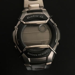 ベビージー(Baby-G)のbaby-g G-SHOCK 腕時計レディース メンズ シルバーmsg-134(腕時計)