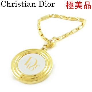 クリスチャンディオール(Christian Dior)のディオール 極美品 ラウンド キーホルダー キーリング バッグ チャーム(チャーム)