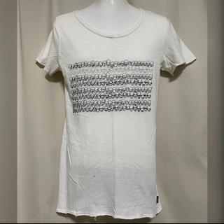 LGB - LGB 刺繍 Tシャツ ALIENS 1 ホワイト カットソー S 白