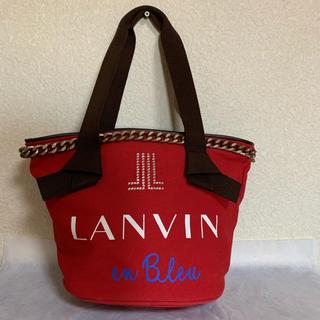 ランバンオンブルー(LANVIN en Bleu)の中古 ランバンオンブルー 可愛いバケツ形トートバッグ(トートバッグ)