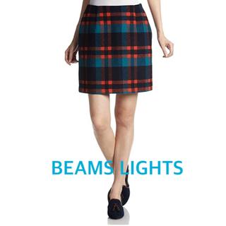 ビームス(BEAMS)のBEAMS LIGHTS (ビームスライツ)  NEWチェック台形 スカート(ミニスカート)