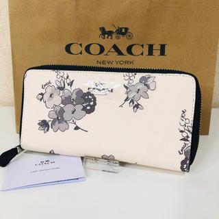 コーチ(COACH)のCOACH コーチ 長財布 花柄 モノクロ フラワー  新品(財布)
