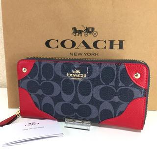 コーチ(COACH)のCOACH コーチ 長財布 レディース レッド 新品(財布)