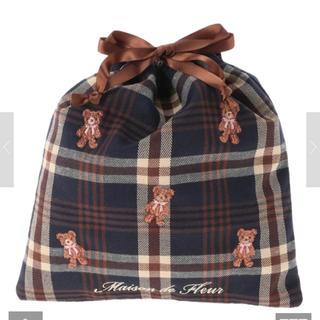 Maison de FLEUR - 新品 メゾンドフルール  ベア刺繍巾着