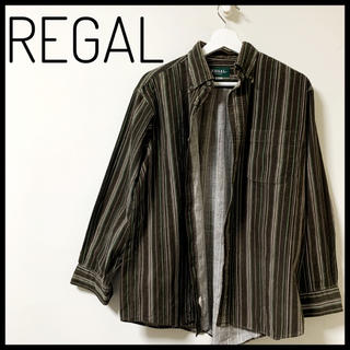 REGAL - REGAL リーガル ストライプ カジュアル シャツ コーデュロイ