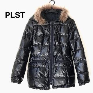 プラステ(PLST)のPLST ファー付ダウンジャケットコート/2/ネイビー(ダウンジャケット)