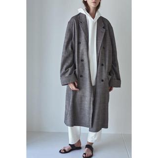 サンシー(SUNSEA)のLinen/Aspero Cotton Herringbone Coat(チェスターコート)