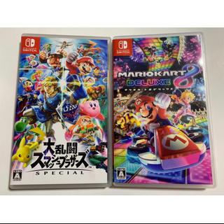ニンテンドースイッチ(Nintendo Switch)の大乱闘スマッシュブラザーズspecial スマブラ マリオカート8 Switch(家庭用ゲームソフト)