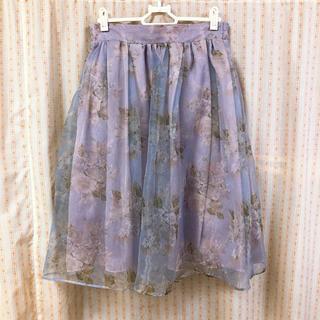 dazzlin - dazzlin オーガンジー花柄スカート